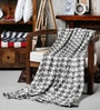Brown Cotton Abstract Throw by Pluchi