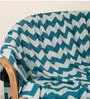 Chevron Knitted Single-Size Throw Blanket by Pluchi