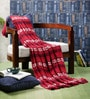 Red Cotton Cosmopolitan Throw by Pluchi