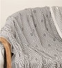 Graham Natural Knitted Queen-Size Throw Blanket in Grey Colour by Pluchi