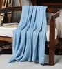 Pluchi Granny's Love Blue Cotton 47 x 39 Inch Single Blanket
