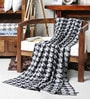 Houndstooth Cotton Single Throw Blanket by Pluchi