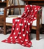 Red Cotton Love Is In The Air Throw by Pluchi