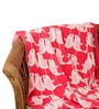Lovey Dovey Birdie Baby Blanket in Neon Pink, Light Pink & Ivory Colour by Pluchi