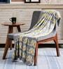 Pluchi Lovey Dovey Birdie Yellow & Gray Cotton 47 x 39 Inch Single Blanket