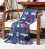 On the Road & Up in the Air Knitted Cotton Kid's Blanket by Pluchi