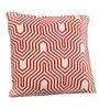 Red & White Cotton 16 x 16 Inch Graham Knitted Cushion Cover by Pluchi