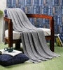 Riblike Cotton Single Throw Blanket by Pluchi