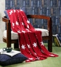 Star Studded Cotton Single Throw Blanket by Pluchi