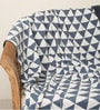 Triangulos Knitted Single-Size Throw Blanket by Pluchi