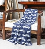 Pluchi Zooming Car Blue Cotton 47 x 39 Inch Single Blanket