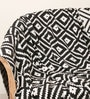 Zumba Natural Knitted Queen-Size Throw Blanket in Natural & Black Colour by Pluchi