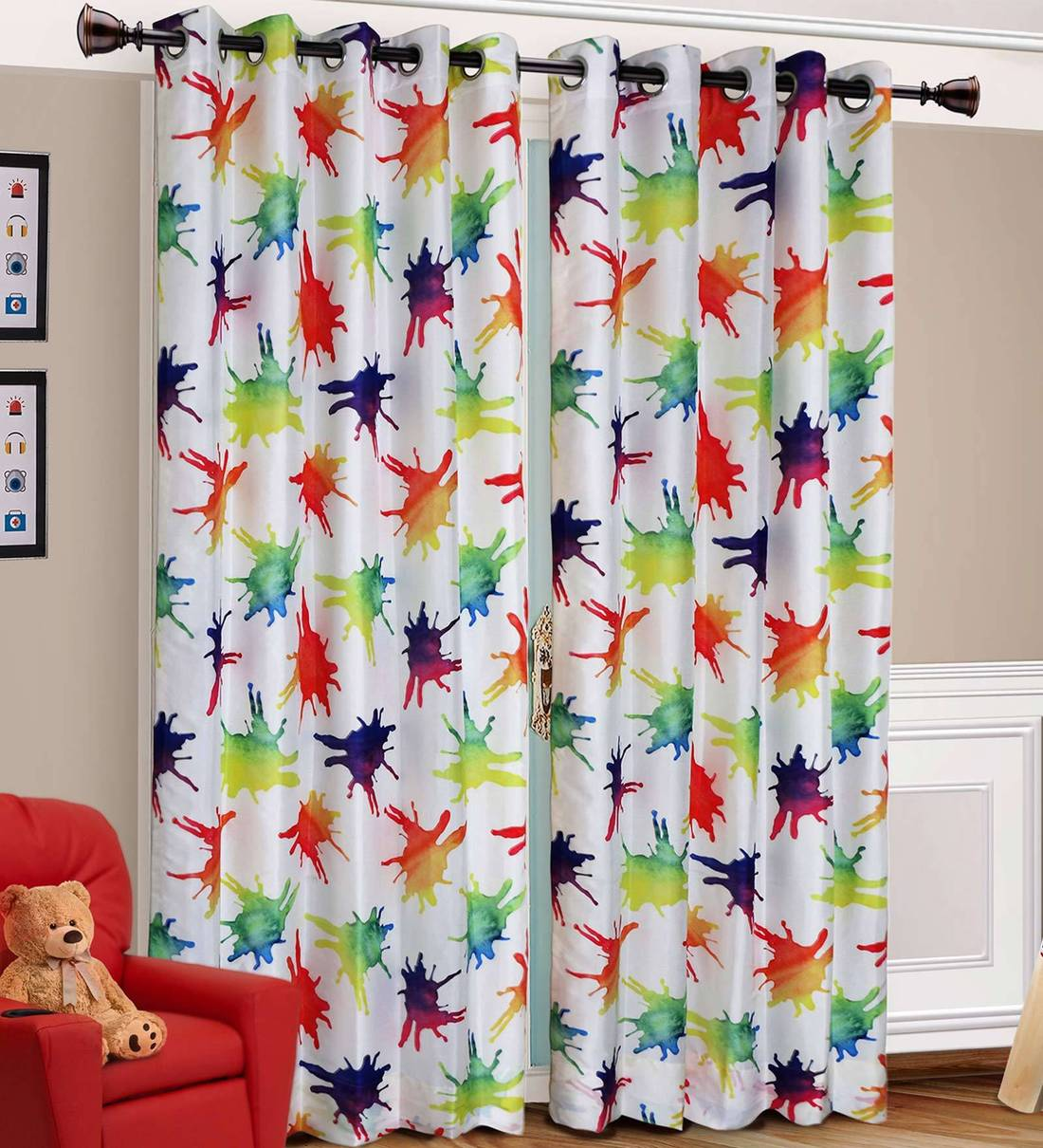 Buy Polyester 7 Feet Kids Door Curtain By Urban Hues Online Kids Curtains Kids Curtains Kids Furniture Pepperfry Product