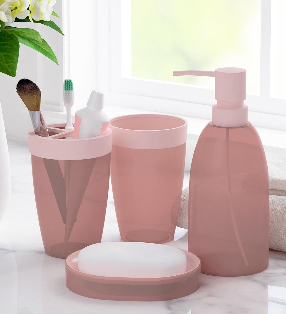 Polypropylene Counter Top Bathroom, Peach Bathroom Accessories