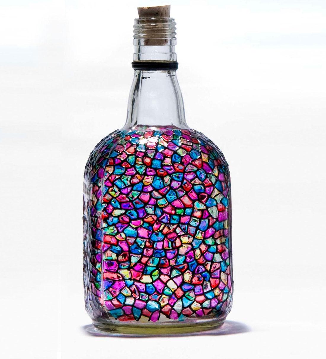 Buy Poppadum Art New Monk Bottle Online Glass Bottles Bottles Dining Bar Pepperfry Product