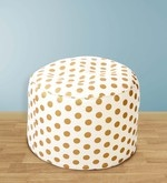 Polka Dots Design Large Pouffe in Multicolour