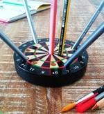Poppadum Art Bullseye Wooden Pen Stand