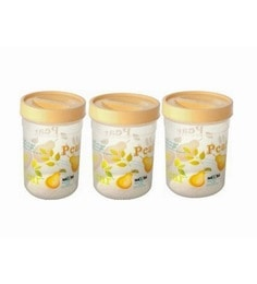 Polypropylene 2.8 L Round Storage Containers - Set Of 3