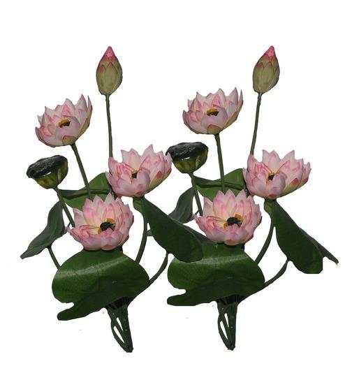 Buy light pink artificial lotus flower set by pollination online light pink artificial lotus flower set by pollination mightylinksfo