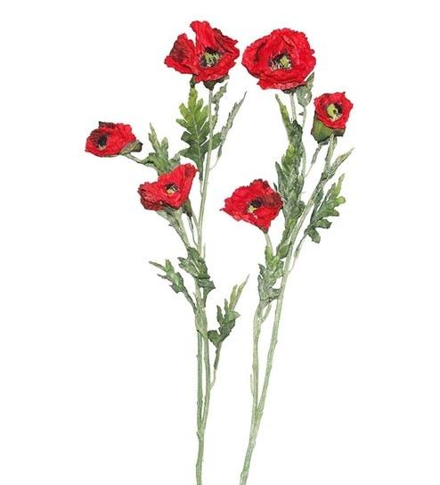 Buy pollination red poppy artificial flowers set of 2 online pollination red poppy artificial flowers set of 2 mightylinksfo