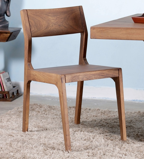 Portland Dining Chair In Acacia Wood By Woodsworth