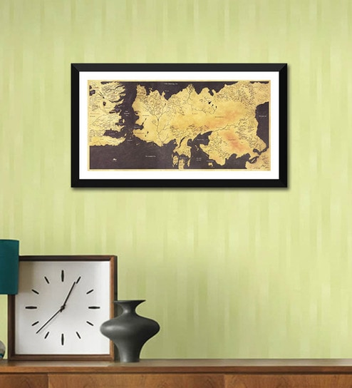 Buy Poster Paper 24 x 12 Inch Fan Art Game of Thrones Map of The ...