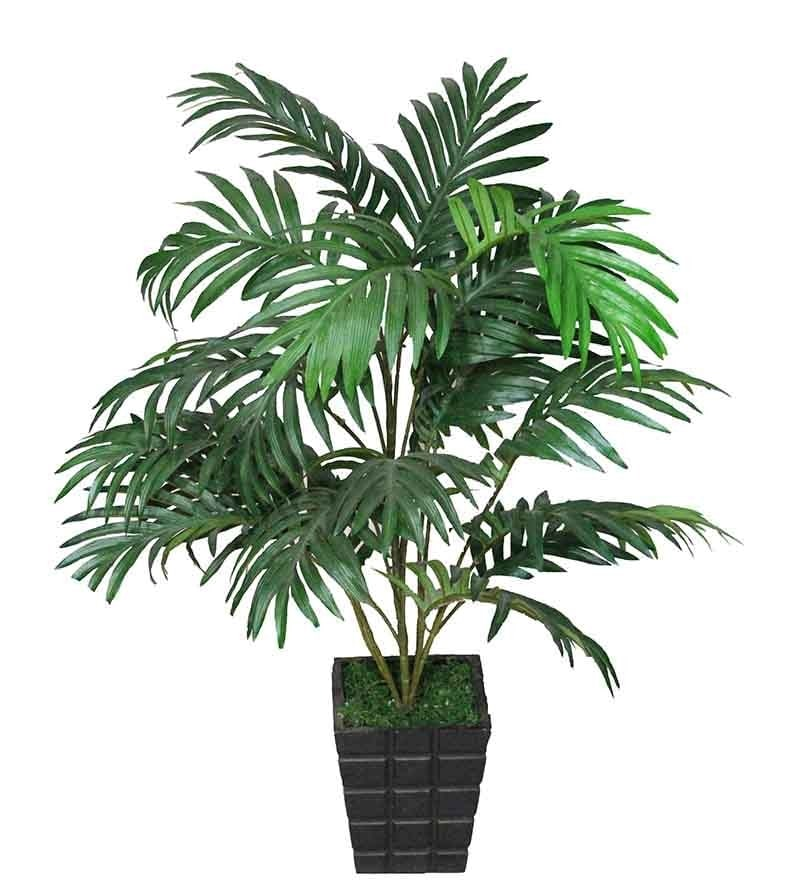 Green Polyester Areca Artificial Plant Without Pot by Pollination