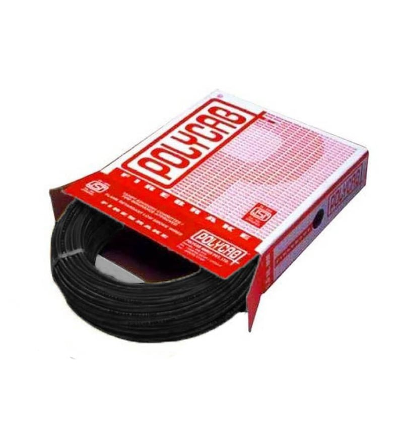 Polycab Industrial Black 4 Sq.mm (90 m) Multistrand Wire