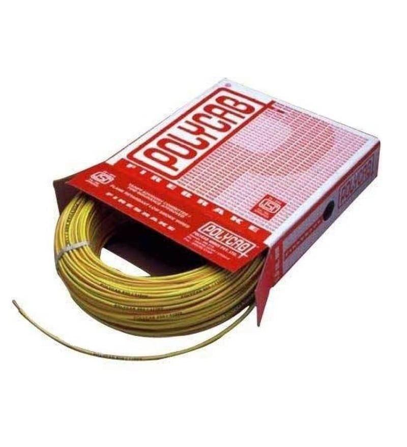 Polycab Industrial Yellow 4 Sq.mm (90 m) Multistrand Wire