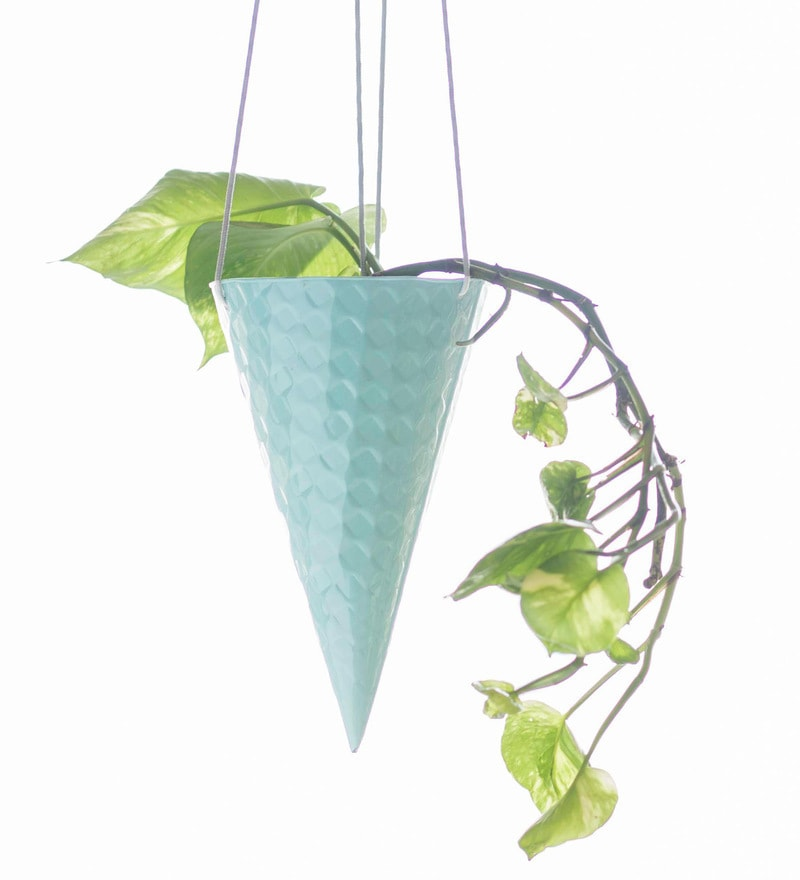 Iceincream Cone Planter in Blueberry by PoppadumArt