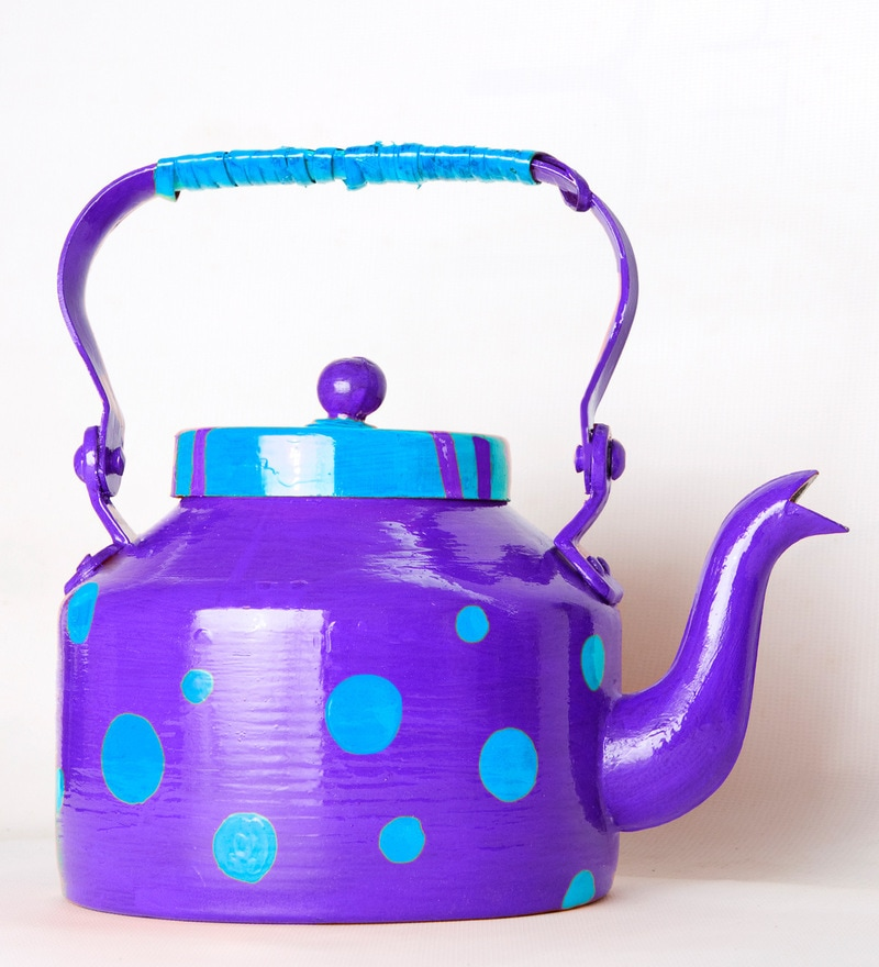Kettle Planter in Purple by PoppadumArt