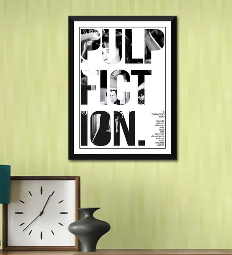 Poster Paper 12 x 17 Inch Art Pulp Fiction Framed Poster by Tallenge
