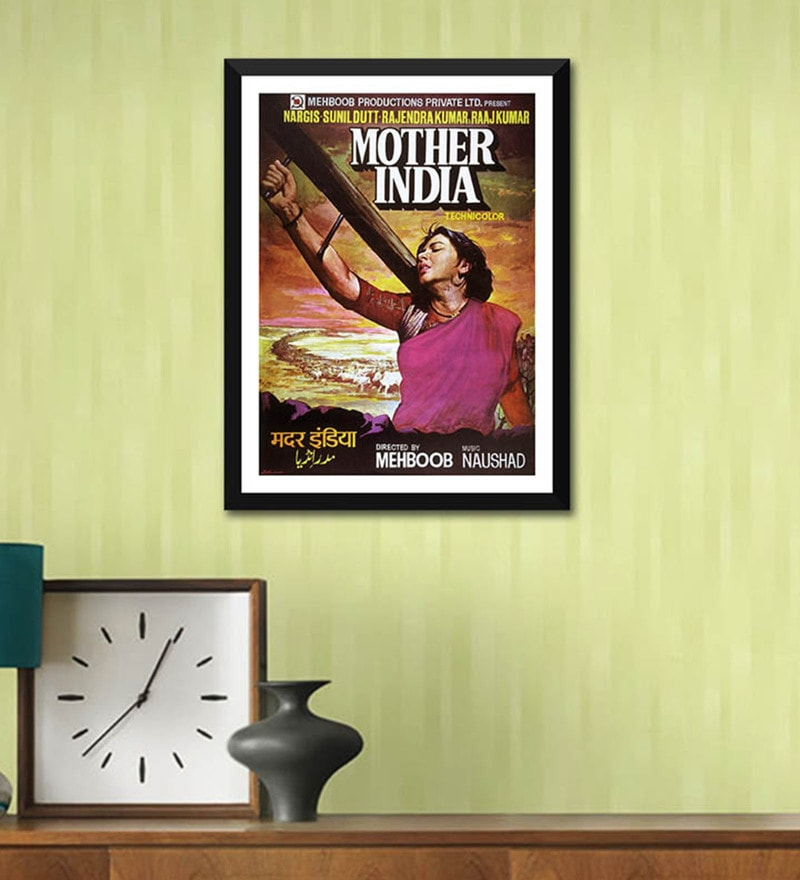 Poster Paper 12 x 17 Inch Mother India Framed Poster by Tallenge