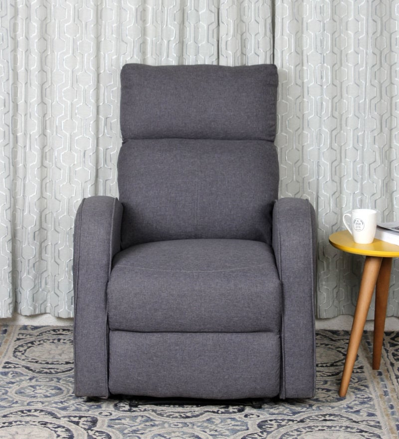 Potenza One Seater Recliner in Grey Colour