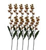 Yellow Single Stalk Artificial Orchid Flower - Set of 5 by Pollination