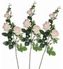 Light Pink Artificial Rose Flowers - Set of 3 by Pollination