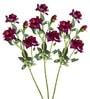 Pollination Purple Rose Artificial Flowers - Set of 3