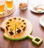 Poppadum Art Omnomnom Green Wood Round Serving Platter