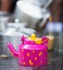Poppadum Art Pink Aluminium 800 ML Chai Kettle