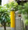 Hang on! Balcony Planter in Sunshine Yellow by PoppadumArt