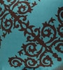 Portico Blue & Brown Cotton 16 x 16 Inch Neeta Lulla Floral Cushion Cover - Set of 2