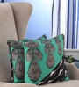 Portico Blue Cotton 16 x 16 Inch Nishka Lulla Cushion Cover - Set of 2