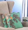 Portico Blue Cotton 16 x 16 Inch Nishka Lulla Cushion Cover - Set of 2