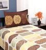 Cadence Multicolour Cotton Single Size Bed Sheet by Portico New York