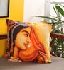 Portico Orange Cotton 16 x 16 Inch Band Baja Barat Cushion Cover - Set of 2