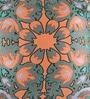 Orange Cotton 16 x 16 Inch Nishka Lulla Cushion Cover - Set of 2 by Portico New York