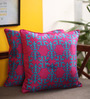 Portico Pink & Blue Cotton 16 x 16 Inch Neeta Lulla Cushion Cover - Set of 2