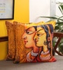 Multicolour Cotton 16 x 16 Inch Band Baja Barat Cushion Cover - Set of 2 by Portico New York
