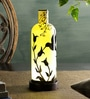Handpainted Yellow Glass Table Lamp by Posh N Plush