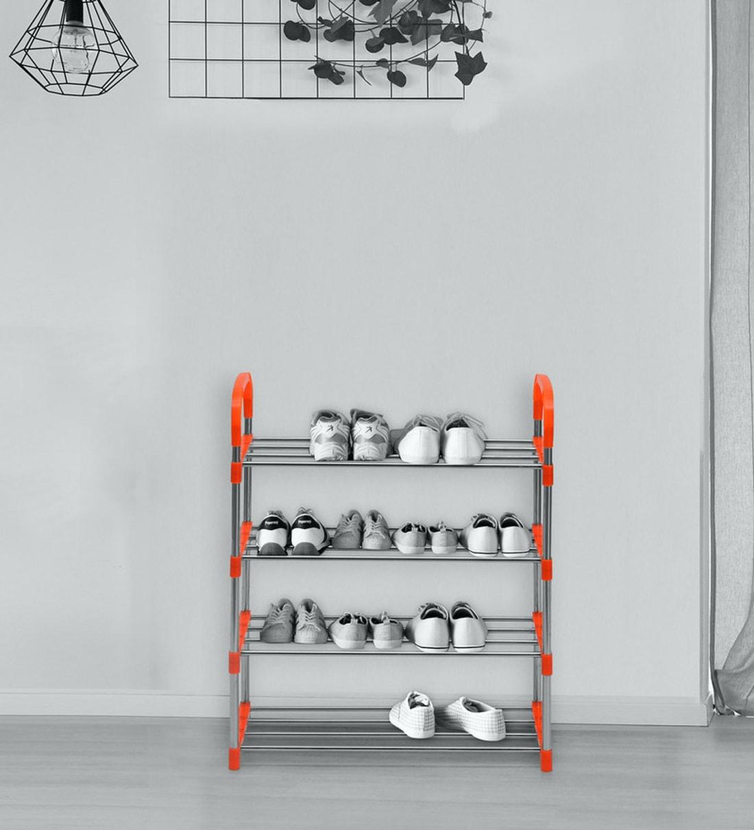 Buy Proxima Shoe Rack in Orange Colour